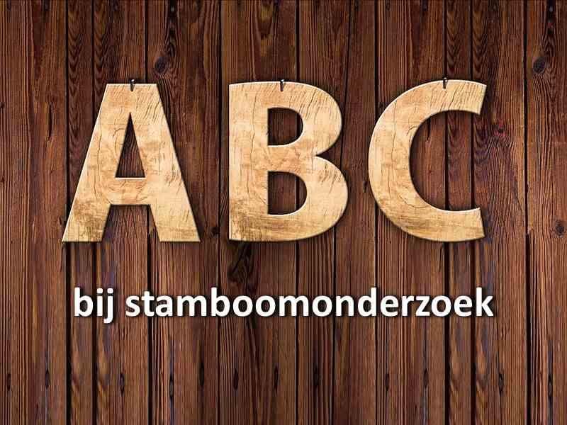 abc stamboom onderzoek