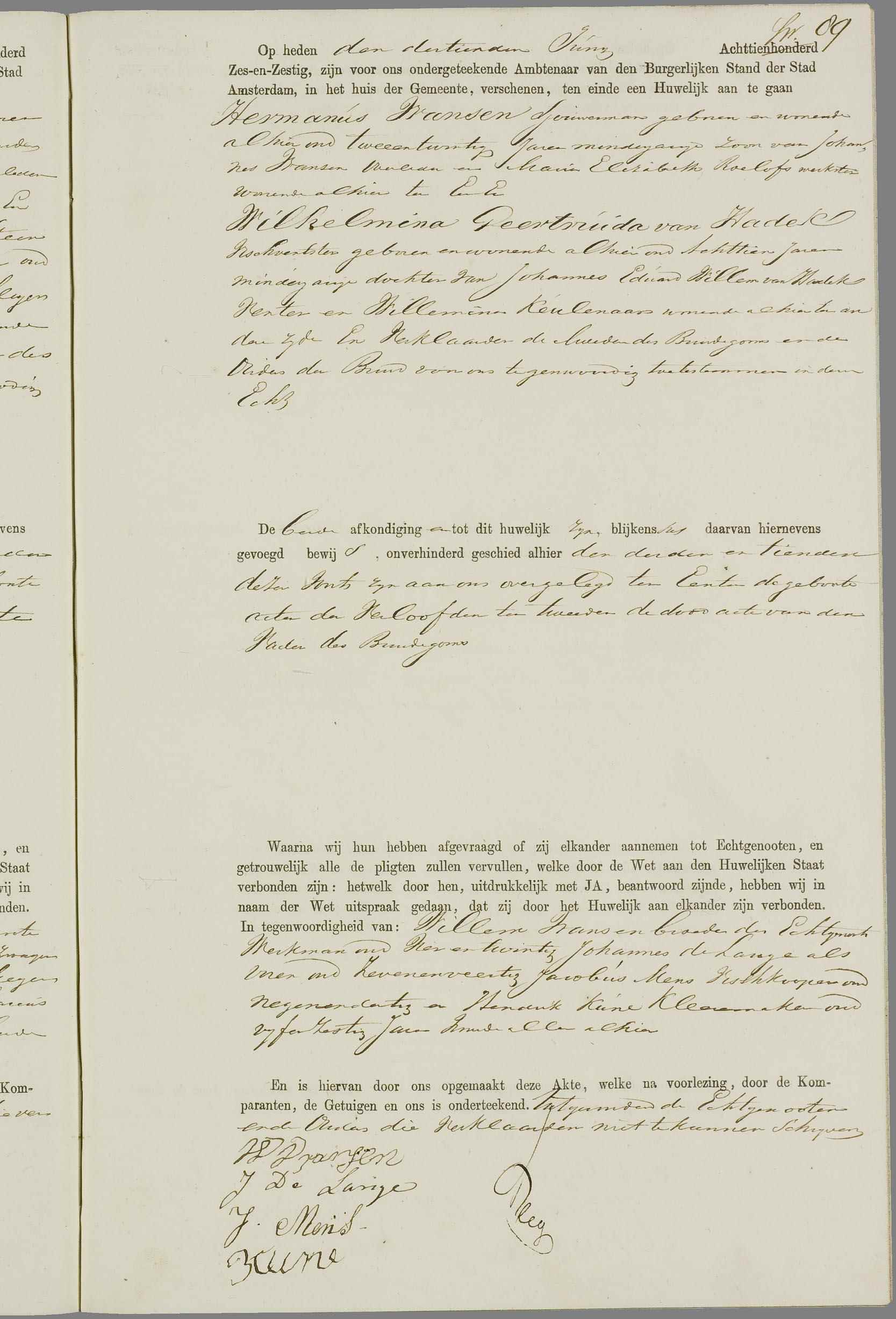 handtekening voorouders